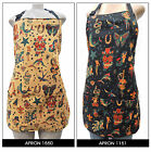 "US HANDMADE REVERSIBLE APRON WITH  "" SKULLS TATTOOS""  PATTERN,  COTTON, NEW"