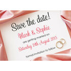 Personalised Save the date cards Wedding invites with magnetic option