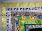 HANDMADE BABY MINI SECURITY BLANKET w/ SATIN TRIM - ASSORTED TRIMS AVAILABLE