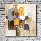 Abstract Meditation Oil Painting Square Unframed Home Cafe Decor Canvas Wall Art