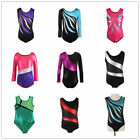 US 4-14 Kid Girl Ballet Dancewear Gymnastics Leotards Bodysuits Skating Costumes