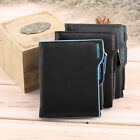 Men's Faux Leather ID credit Card holder Bifold Coin Purse Wallet Pockets LOT FP