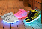 USB Charge Wings Boys Girls LED Shoes Luminous Children Sport Sneakers light up