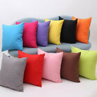 """11 Colors Solid Nap Cushion Cover Home Decor Bed Sofa Throw Pillow Case 18""""x18"""""""