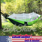 US SELLER 2 Person Travel Outdoor Camping Hanging Hammock Bed With Mosquito Net