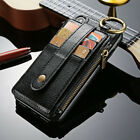 Shockproof Wallet Leather case 2in1 card holder Waist Ring Cover For iPhone X