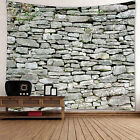 3D Gray Brick Decorative Tapestry Wall Hanging Room Decor Be