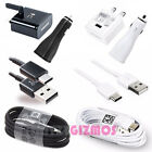 GENUINE SAMSUNG FAST MAINS / CAR CHARGER PLUG TYPE C USB DATA SYNC CABLE LEAD