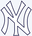 New York Yankees Logo 2-Color Vinyl Decal Sticker - You Pick Size on Ebay