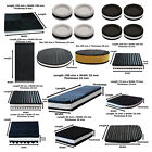 Anti Vibration Pads Ribbed Rubber Reducing Noise & Sound Deadening Mat Feet