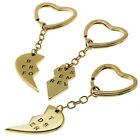 3Pcs Gold Silver Plated Best Friends Forever Friendship Keyring Key Chain Keyfob