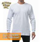 PROCLUB PRO CLUB MEN'S THERMAL T SHIRT HEAVYWEIGHT LONG SLEEVE SHIRTS HIP HOP