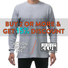 PROCLUB PRO CLUB MENS PLAIN THERMAL LONG SLEEVE T SHIRT HEAVYWEIGHT WAFFLE TEE image