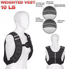 Adjustable Weighted Vest Training Fitness Exercise Workout Jacket 10 15 20 lbs
