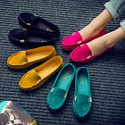 ladies shoes - Women Moccasin Suede Slip On Flat Loafers Lady Casual Ballerina Ballet Shoes US
