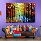 Frameless Huge Wall Art Oil Painting On Canvas Forest Road Home Decor