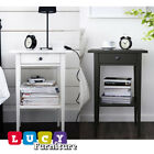 Ikea Hemnes Modern Bedside Table Bedroom Storage