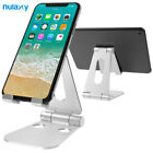 Nulaxy Portable Phone Stand for iPhone X Aluminum Adjustable Desktop Holder Dock