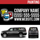 Painting Business Logo Vinyl Decal Personalized Advertising Your Text - 3 pcs