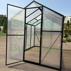 EASY PUSH FIT ASSEMBLY POLYCARBONATE GREENHOUSE - BLACK, CLIP FREE, HINGED DOOR