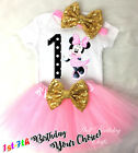 First 1st -7th Birthday Girl Tutu Outfit Light Pink Minnie M