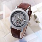 New Men's Automatic Mechanical Date Waterproof Transparent Skeleton Wrist Watch image