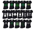 St Patricks Day shirt Shamrock Clover Paddy's Irish Women Vneck T-Shirt Black