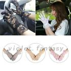 UV Wedding Bridal Five Finger Formal Driving Wrist Lace Full Gloves Lady Girl