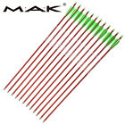 30in Red Aluminum Hunting Arrows Spine 300 wholesales Archery 6/12/50/100pcs