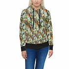 Haunted Mansion Stretch Paintings Women Zip Up Hoodie XS-3XL