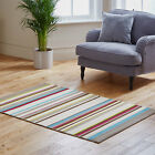 QUALITY CLEARANCE RUG STRIPES DESIGN BEIGE BROWN ATTRACTIVE MODERN RUG ON SALE