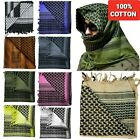 100% Cotton Military Grade Shemagh Headscarf Keffiyeh Veil Tactical Sniper Wrap