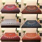 King Size Cotton Flat Bed Sheet Bed Cover Psychedelic Mandala Bedspread Bedding