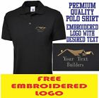 Personalised Embroidered Builder Polo Shirt Building services Workwear Uniform