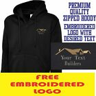 Personalised Embroidered Builder Zipup Hoody Building services Workwear Uniform