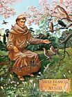Saint Francis of Assisi Crazy Quilt Block Multi Sizes FrEE ShiPPinG WoRld WiDE