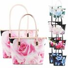 New Printed Synthetic Leather 2 in 1 Casual Shopper Shoulder Bag Handbag