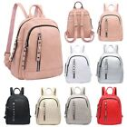 New Ladies Faux Leather Zipped Pockets Casual Travel Festival Mini Backpack