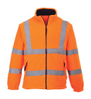 CLASS 3:2 HIGH VISIBILITY ORANGE MESH LINED FLEECE JACKET REFLECTIVE TAPE M-3XL