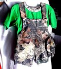 NEW Realtree Camo KNIT Short Biboverall boy set OFFICIALLY LICENSED REALTREE®