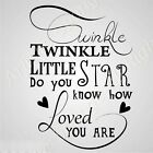 'Twinkle Little Star' Quote BIG SIZES Reusable Stencil Wall Decor Kids Room N79