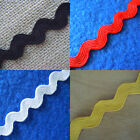 3 Yards 3/4'' Wide  Ric Rac Rick Rack Trim  Lace Black White Yellow Red