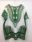 African Print Dashiki Unisex Short sleeve Cotton Top with pockets