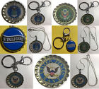 St. Pauli Girl beer bottle cap USA US Navy Air Force Army Keychain Necklace