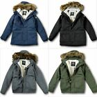 NWT Hollister by A&F Mens Hollister All-Weather Sherpa-Lined Parka Navy - Size L