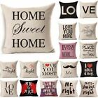 v shaped pillow cover - 43*43cm Letter Printed Cotton Fabric Square Shape Cushion Cover C669