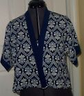 MONTEAU GIRL COVERUP TOP WRAP SIZE M10/12 - L14 BLUE FLORAL LIGHTWEIGHT NWT