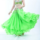 Luxury Three layer Chiffon Hemming Long Skirt Flamenco Belly Dance 13 colors