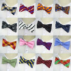 Mens Self Tied Bow Tie Adjustable Silk Bowtie Self-tied ties Striped Butterfly