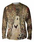 "Yizzam - Klimt - ""Garden with Roosters""-  New Mens Long Sleeve Shirt"